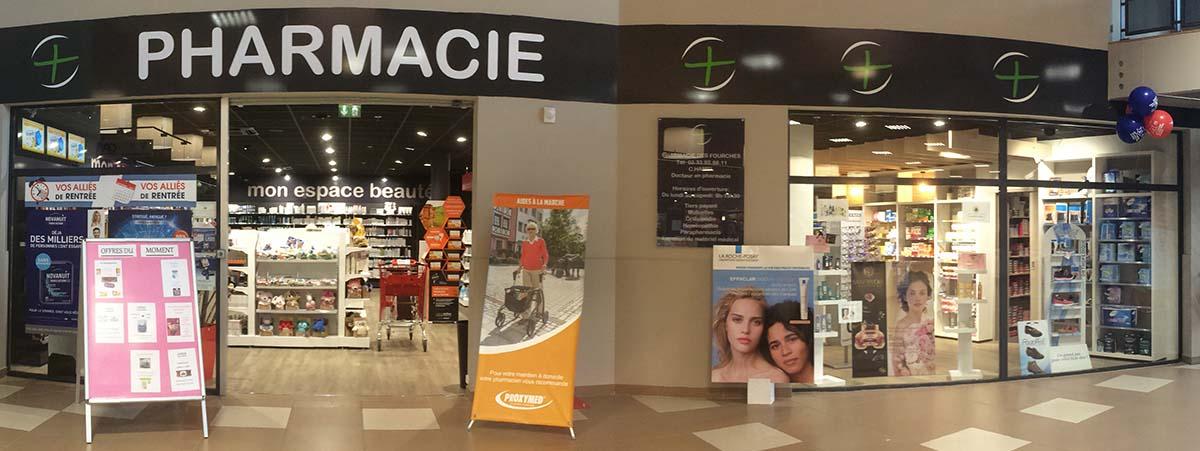 Devanture Pharmacie des Fourches à Cherbourg Octeville